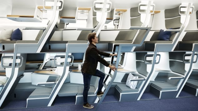 Is this double-decker seat the future of airplane travel?